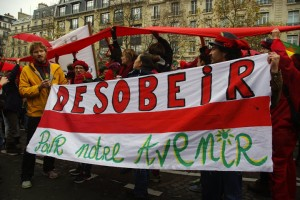 "COP 21 Paris, ""ligne rouge"" march"